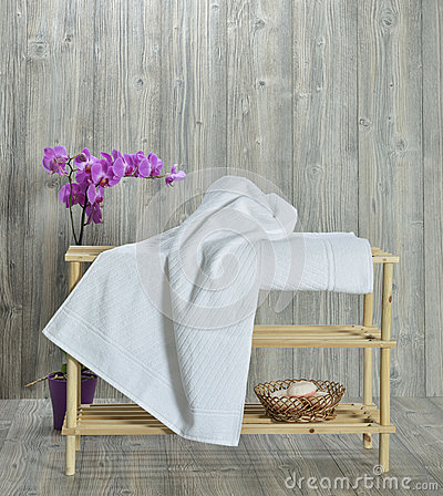Towel on wood