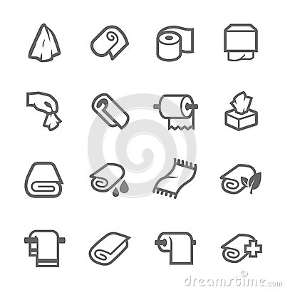 Free Towels And Napkins Icons Royalty Free Stock Image - 44956436