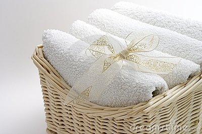 Towels in the basket