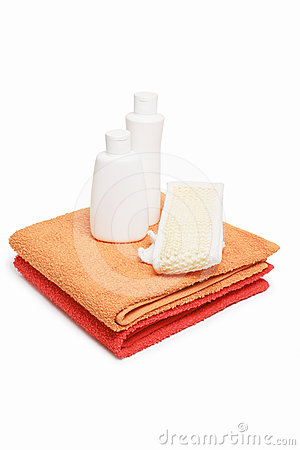 Towels bast and shampoo