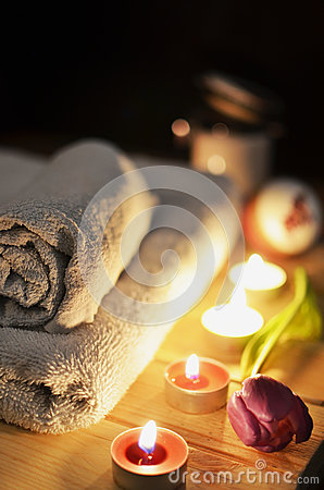 Towels And Candles Free Public Domain Cc0 Image