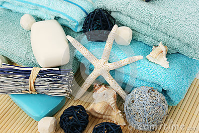 Towels and decoration