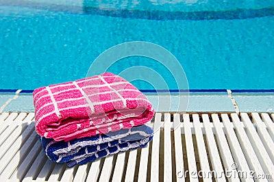 Towels  at swimming pool
