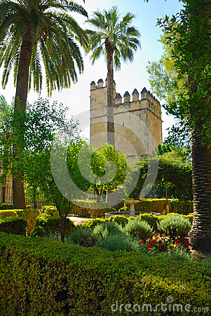 Tower in Alcazar gardens