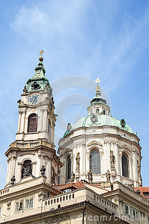 Free Tower And Dome Of St. Nicholas Church In Prague Stock Photos - 95793933