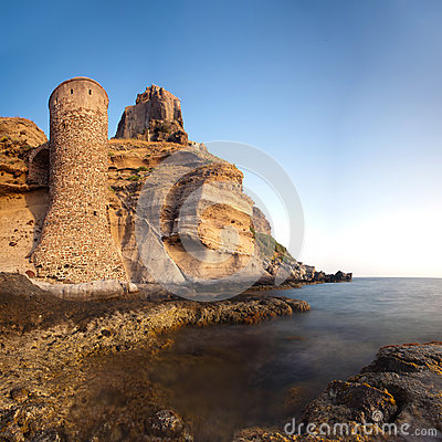 Free Tower And Fort On Capraia Island Royalty Free Stock Photography - 25782057