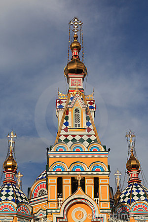 Tower of Ascension Cathedral in Almaty