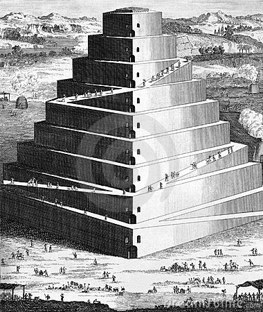 The Tower of Babel Editorial Stock Image