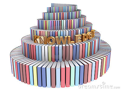 Tower of Babel created from books