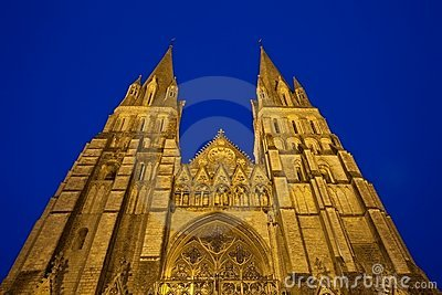 Tower of Bayeux Cathedral Normandy France