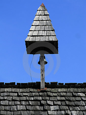 Tower with bell on top of the roof