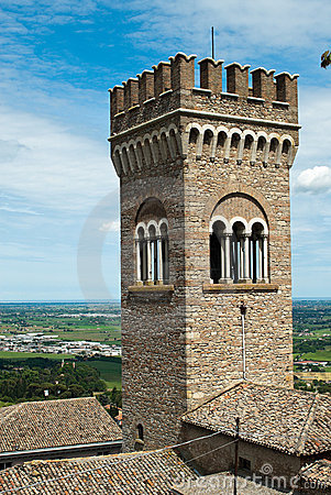 Tower in Bertinoro, Italy.