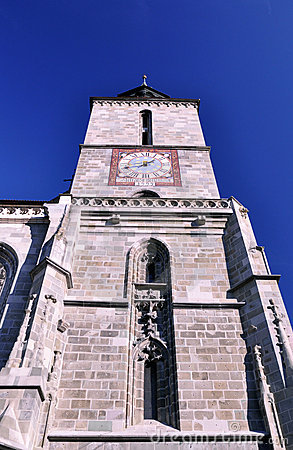 The tower of Black Church, Brasov, Romania
