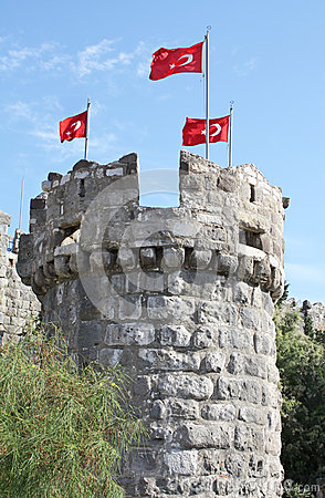 Tower in Bodrum Castle, Turkey