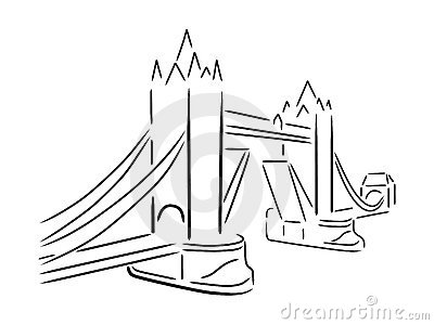 Vector illustration of london city 2 royalty free stock photography - Tower Bridge Stock Photography Image 7980982