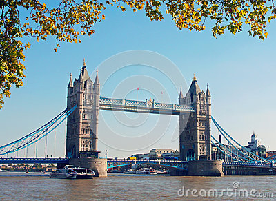 Tower Bridge at Autumn Editorial Stock Image