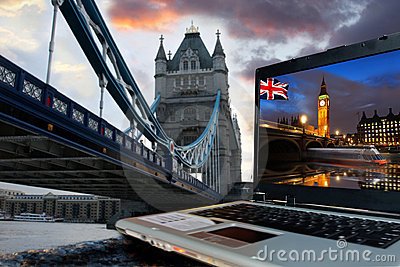 Tower Bridge with Big Ben, London,UK