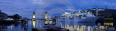 Tower Bridge and Cruise Liner