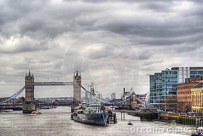 Tower bridge in hdr