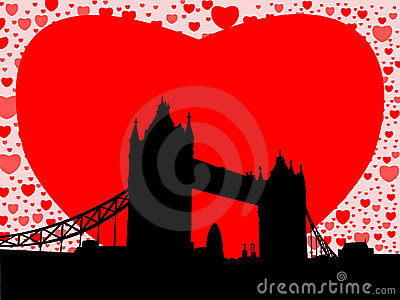 Tower Bridge With Hearts