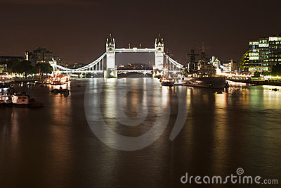 Tower Bridge and HMS Belfast ship