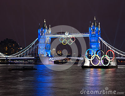Tower Bridge: London 2012 Summer Olympics Editorial Photo