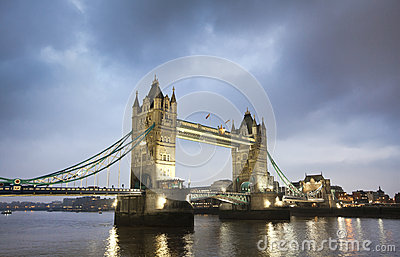 Tower Bridge in London Editorial Image