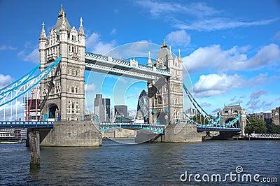 Tower Bridge in London Editorial Stock Image