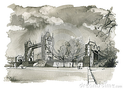Tower Bridge, London Illustration