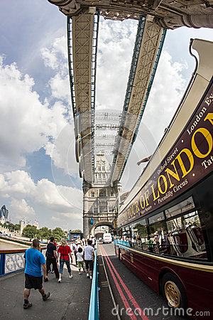 Tower Bridge during the London Olympics 2012 Editorial Photo