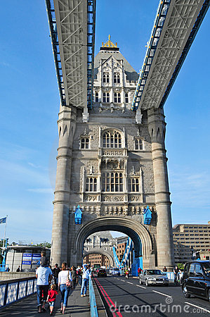 Tower Bridge in London, United Kingdom Editorial Stock Photo