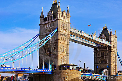 Tower Bridge in London, United Kingdom Editorial Photography