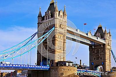 Tower Bridge in London, United Kingdom Editorial Photography