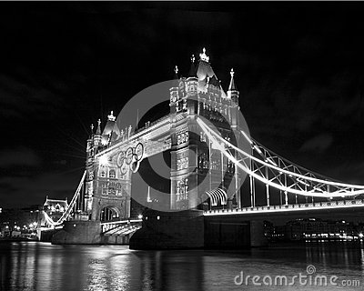 Tower bridge and Olympic rings