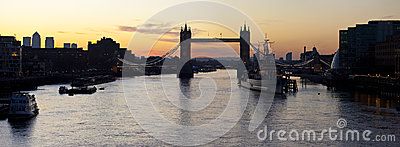 Tower Bridge and the River Thames Sunrise Editorial Image