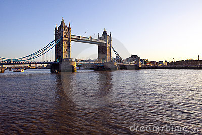 Tower Bridge and The River Thames at Sunset