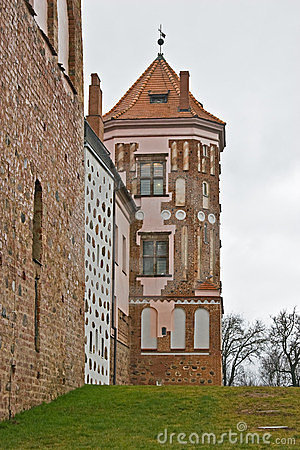 Tower of the castle in Mir