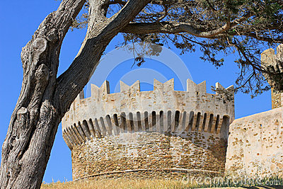 the tower of a castle in Tuscany