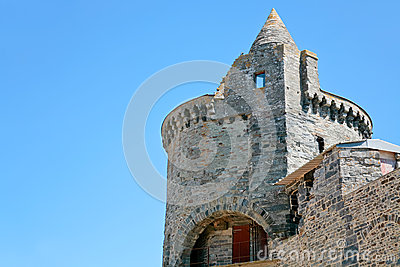 Tower of castle in Vitre, France