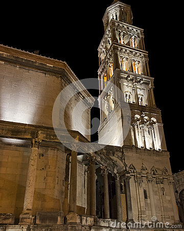 Tower of Cathedral of St Domnius in Split, Croatia