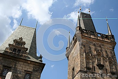 Tower on Charles Bridge Prague