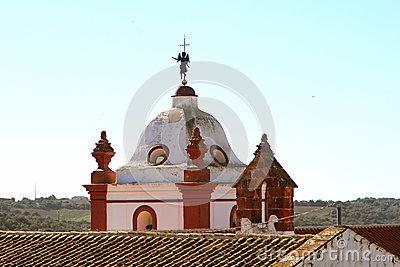 Tower of a church in Silves, Portugal