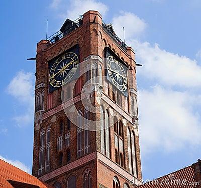 Tower of city hall, Torun, Poland