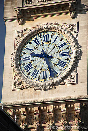 Tower clock of Gare de lyon - paris