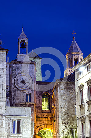 Tower clock in Split Croatia