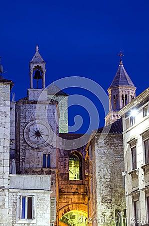 Tower clock in Split Croatia