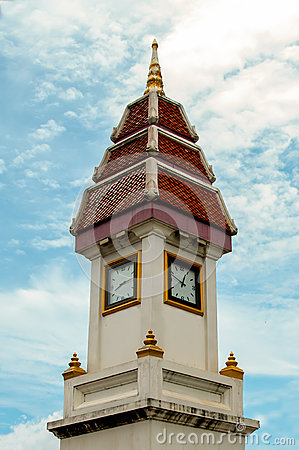 Tower clock thai style