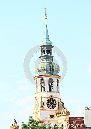 Tower with clocks of Loreta