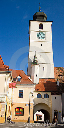 Tower of council in Sibiu Editorial Image