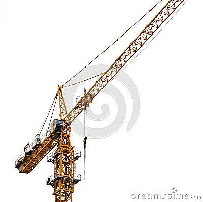 Free Tower Crane. Royalty Free Stock Photo - 54797455
